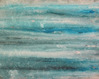 Original Abstract Ocean Painting Blue Green Abstract Art Beach Home Decor Wall Art