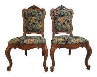 Ethan Allen Tuscany French Carved Dining Room Side Chairs C