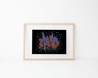 Dark Bouquet | Wall Decor