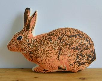 Silkscreen Bunny Pillow