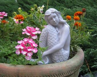 Mermaid Statue, Concrete Mermaid Statues, Statues Cast In Cement, Garden Decor, Yard Art, Mermaid Figure, Little Mermaid, Fish Tail,