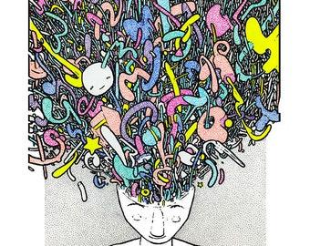Expand - drawing - art print