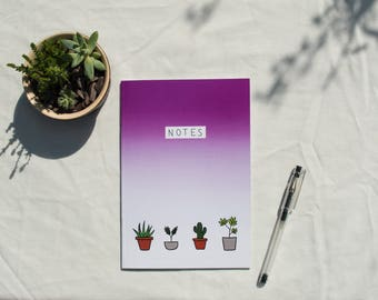 Potted Plants A5 Lined Notebook