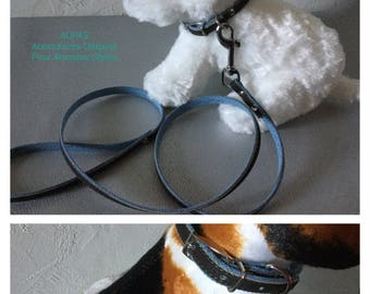 Leash and collar for small dog or puppy VEGAN