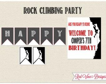 Rock Climbing Party Printables