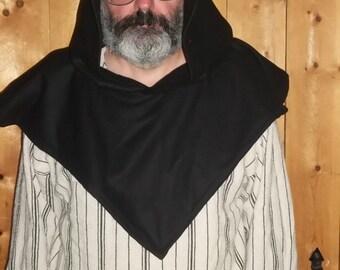 black wool hood