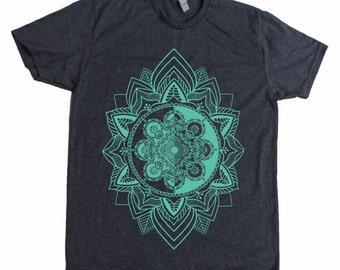 Men's HARMONIC MANDALA Shirt Sacred Geometry Dotwork Tattoo Style T-Shirt