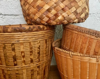 Vintage Natural Basket Collection