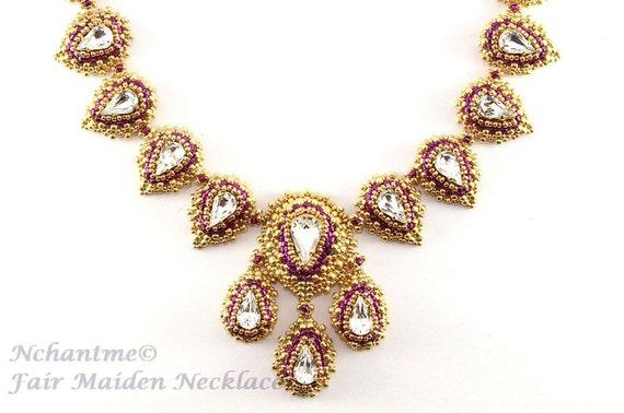 Fair Maiden Necklace Tutorial Instant Download