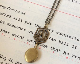Deco Locket Necklace