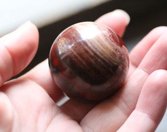 40 mm Red Snakeskin Jasper Sphere #82807