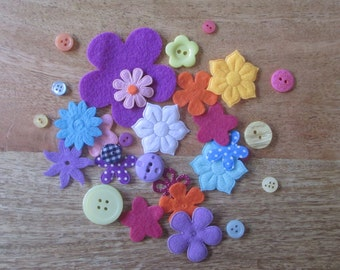 EXTRA Fabric flowers and buttons