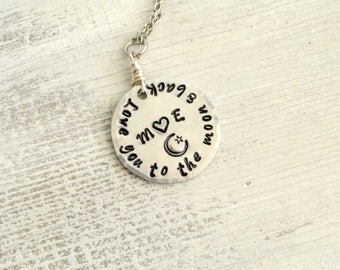 Love You to the Moon Initial Necklace