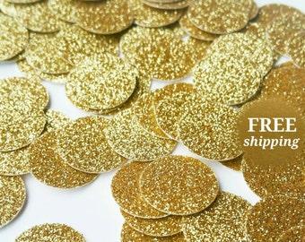 Gold Glitter Confetti Gold Glitter Circle Confetti Glitter Confetti Gold Confetti Table Confetti Gold Glitter Circles