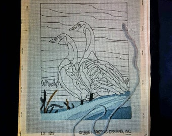 Vintage DIY  Duck Cross Stitch
