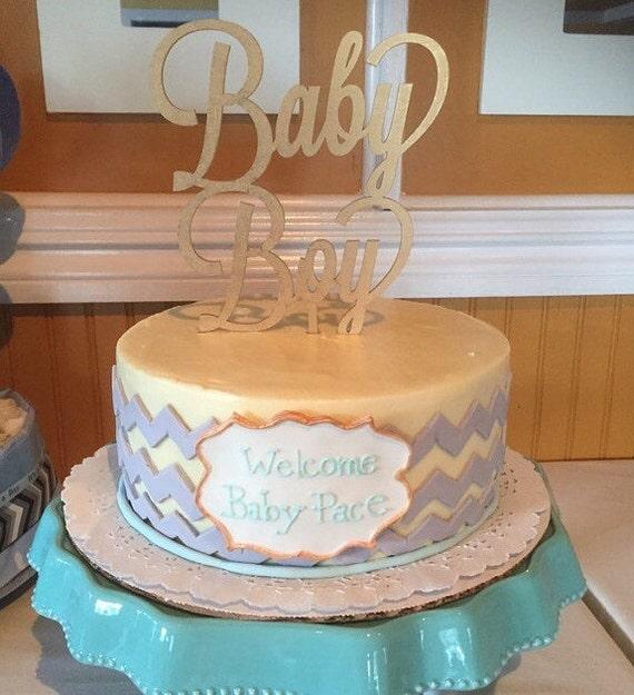 Baby Shower Cake Topper,  Baby Boy Cake Topper, Gender Reveal Cake Topper, It's a Boy Cake Topper, Glitter Cake Topper, Rose Gold Cake