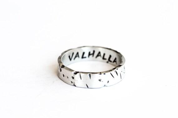 Viking unisex wedding ring, mens wedding band, sterling silver viking band, norse mens ring