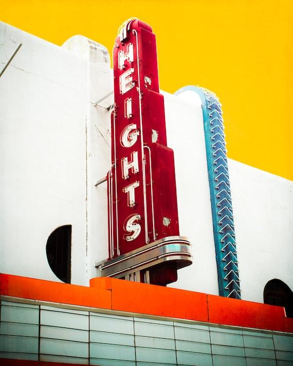 Fine Art Photo Neon Sign Houston Texas Theatre Decor Art