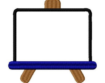 5x7 blackboard embroidery design, blackboard applique design, school embroidery design, school applique design, whiteboard embroidery