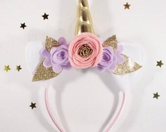 Gold Unicorn Headband - Unicorn Party