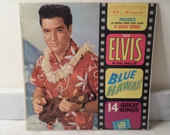 Vintage 1961 LP Record Elvis In Hal Wallis Blue Hawaii Original Soundtrack Very Good Condition Australia Import 14772