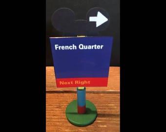 handmade Disney inspired road sign French Quarter