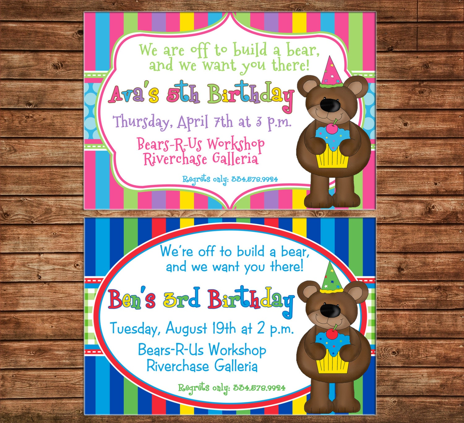 Boy or girl invitation bear teddy birthday party can personalize boy or girl invitation bear teddy birthday party can personalize colors wording printable file or printed cards stopboris Image collections