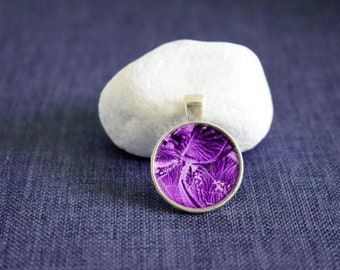 Handmade jewellery - Wax Art abstract pendant – Wearable art