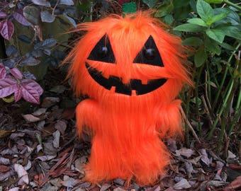 Pumpkin Bod Plush - Halloween Toys - Halloween Man - Creepy Cute - Weird Stuffed Animals - Halloween Decorations - Ugly Cute - Pumpkin Doll