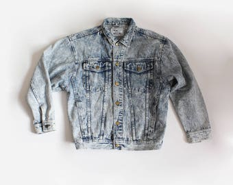 Vintage Arizona Acid Wash Oversize Denim Jacket