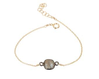 Labradorite Rhea gold filled adjustable chain bracelet