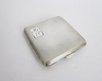 Vintage Sterling Silver British Compact 1940s, One of a Kind Art Deco Paris Apartment Powder Room Decoration, Unique Birthday Gift Ideas