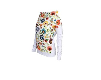 White & polish folk Chimney sweatshirt