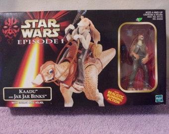1998 Star Wars Figures Kaadu with Jar Jar Binks Unopened