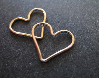 1 pc, Gold Link, HEART Pendants Charms, Plain, 15.5x14 mm, 14k Gold Fill Heart, love brides bridal bridesmaids gifts hp