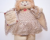 FREE Shipping!!  Clara The Guardian Angel, Collectible, Country Primitive Doll, Wonderful Life, Quilted, Free Shipping!