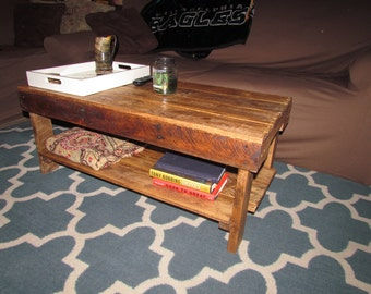 Rustic,Recycled, reclaimed pallet wood coffee table