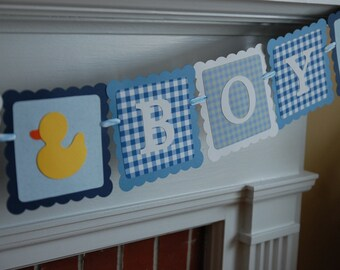 It's A Boy Banner, Baby Shower Banner, Rubber Duck Banner, Rubber Duck Shower, Rubber Duckie Theme