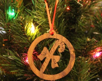 Ornament - Candy Cane - Walnut