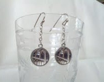 Brooklyn Bridge Dangly Drop Earrings
