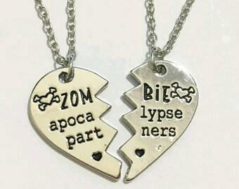 ZOMBIE APOCALYPSE PARTNERS ~Set~ Best Friends Necklaces