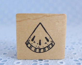 Small Pie Stamp, Piece of Pie, Wood Mounted Rubber Stamp, Slice of Pie, Daisy Chains, Paper Crafts, Card Tag Making