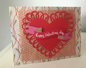 Happy Valentine's Day Card - Handmade Card - Handmade Indian Paper