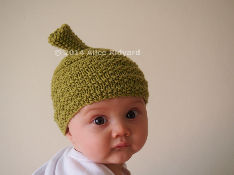 gumnut baby hat pattern - pixie hat pattern - pdf knit pattern ...