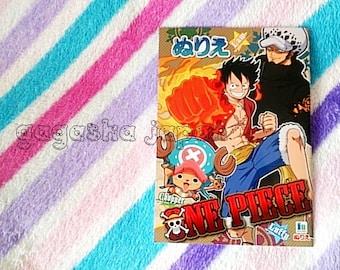 ONE PIECE  Japanese Manga anime coloring book Japanese