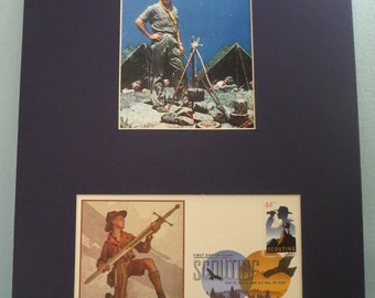 The Boy Scouts: Norman Rockwell - The Scoutmaster & the 100th Anniversary Boy Scout Stamp First Day Cover