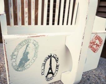 Organize - Vintage Cranberry Scoop Mail Box