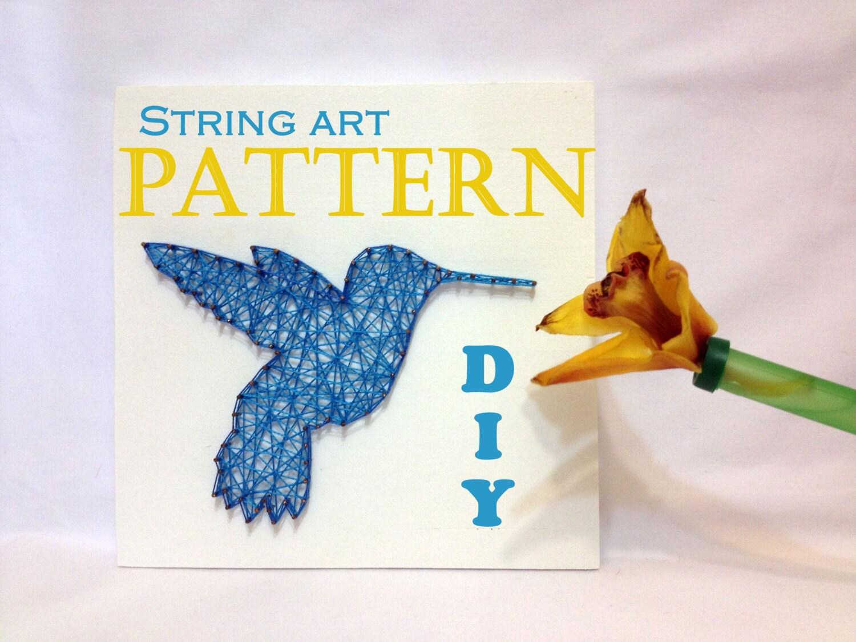 Diy string art pattern hummingbird bird pattern and tutorial zoom baditri Image collections