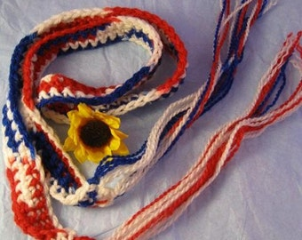 Fashion Belt, Red, White and Blue, US Shipping Included, Ready to Ship