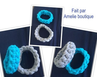 Bracelet made of recycled cotton
